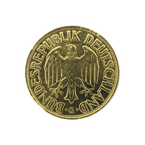Historia 1 Dm Münze 1954 Vergoldet Mit Ihrer Persönlichen Gravur