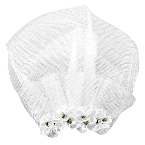 Qiterr Cute Pet Wedding Veil Dog Flower Headdress Veil Clip Pet Dog Accessory(L) -