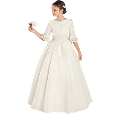 8daecd3532 Suiun Dress Flower Girls Dresses Tulle Fabric First Communion Dresses for  Teenagers Pageant Dresses Ivory