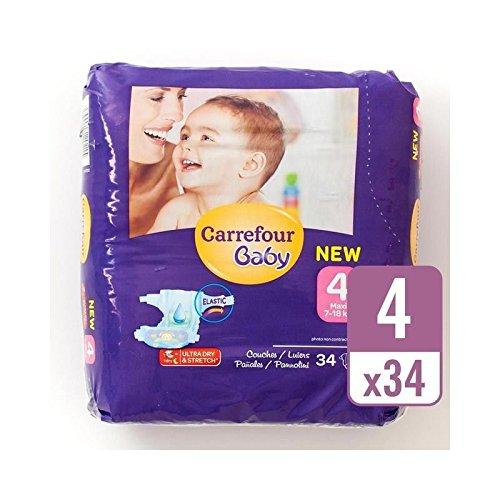 Carrefour Bebé Tamaño Ultra Seco 4 Pañales Llevan Paquete De ...