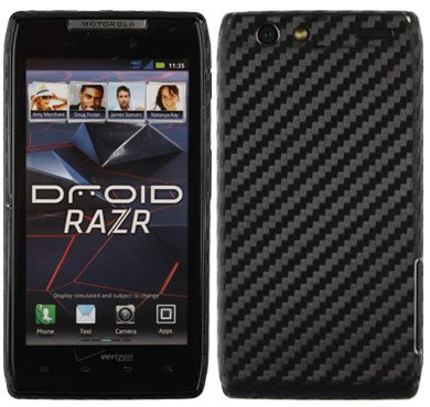Motorola Razr Screen Protector + Carbon Fiber Full Body, Skinomi TechSkin Carbon Fiber Skin for Motorola Razr with Anti-Bubble Clear Film Screen