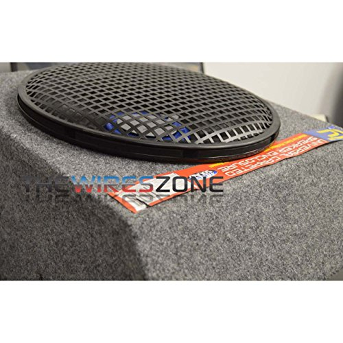 12 Quot Subwoofer Grill ~ Quot steel speaker subwoofer sub woofer waffle mesh grill