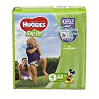 Huggies Little Movers Slip On, Size 4, 23 ct