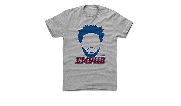 500 LEVEL Joel Embiid Shirt - Philadelphia Basketball - Ropa para hombre - Joel Embiid Silhouette - A-C-BNLCHGR-XX-0378-002-07-AAZ, Atlético, S, ...