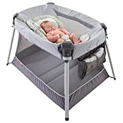 Fisher-Price Ultra-Lite Day & Night Play Yard, Silver