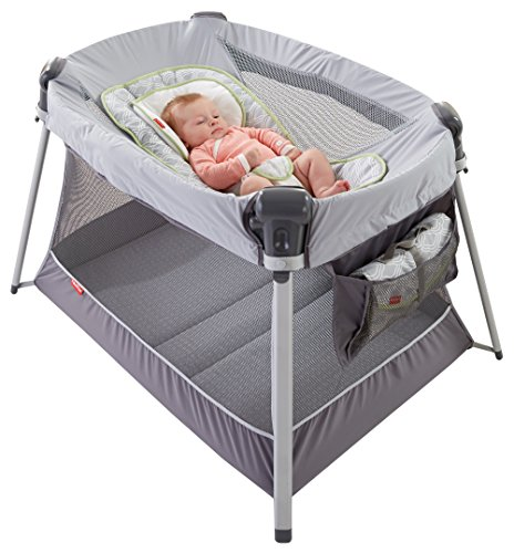 Fisher-Price Ultra-Lite Day & Night Play Yard, Silver by Fisher-Price