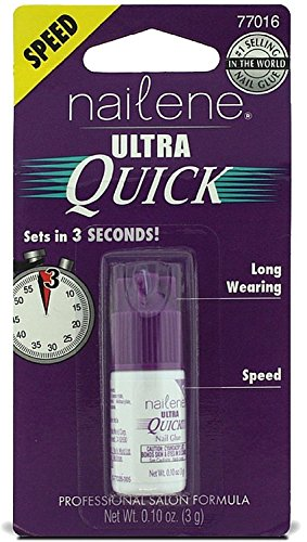 Set of 3 Nailene 0.10 oz. Ultra Quick Nail Glue bundled by Maven (Glue Gift)