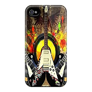 New Premium Flip Case Cover Cool Guitars Skin Case For Iphone 4/4s