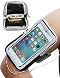 iMangoo iPhone 8 Plus Armband, iPhone 6S Plus Sports Armband Pouch Running Armbands Gym Wrist Bag Touchscreen Sleeve Key Holder Card Slot Wallet Case Arm Band for Apple iPhone 6 Plus 7 Plus Black