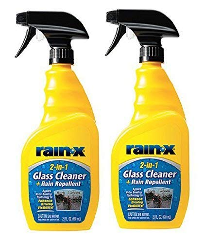 - Rain-X 5071268 2-in-1 Glass Cleaner and Rain Repellant - 23 oz., 2- Pack