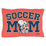 CafePress - Snoopy Soccer Mom Full Bleed - Standard Size Pillow Case, 20''x30'' Pillow Cover, Unique Pillow Slip