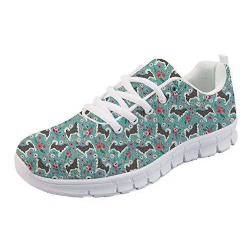 Sneaker Flats Malamute Gym Women's Flower Walking Running Coloranimal Sports Lightweight Alaskan O1UTfY