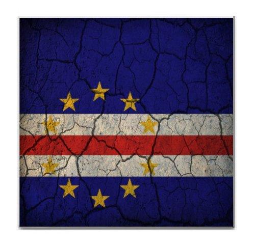 Cape Verde Flag Crackled Design Tile Trivet