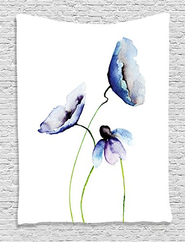 Ambesonne Watercolor Collection Wildflowers Accessories