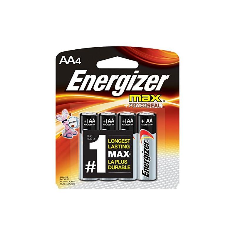 Energizer MAX Alkaline AA Batteries, 4 P