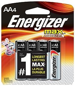Energizer AA Batteries, Max Alkaline (4 Count)