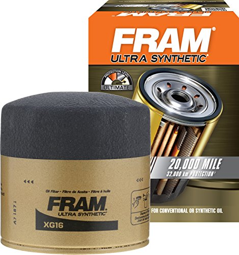 FRAM XG16 Ultra Synthetic Spin-On Oil Filter with SureGrip - Chrome Mustang Oil Cap