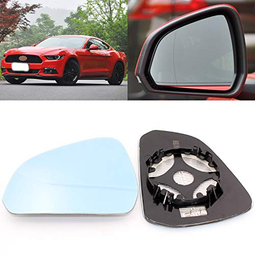 Pukido for Ford Mustang 2002-2017 Side View Door Mirror Blue Glass with Base Heated 1 Pair