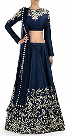 cbd5b33cf Snapdeal Women s Prachi Blue lehenga Choli Semi-stitched Dress ...