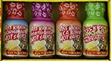 Ass Kickin' Hot Sauce Variety Pack, 4-Count Jars (Pack of 12)