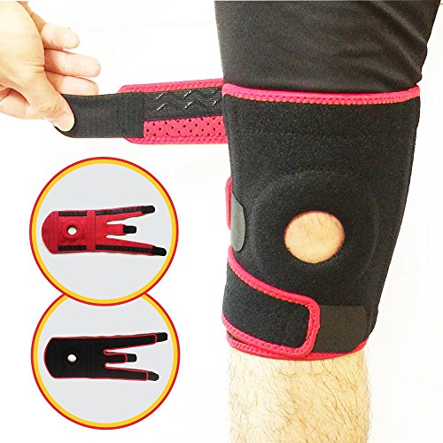 Knee Brace Support Sleeve for Arthritis, Meniscus Tear, ACL, Orthopedic - Knee Pain Relief, Knee Stabilizer - Knee Brace for Running, Hiking, Walking, Football, Basketball, Men, Women by ADOKA