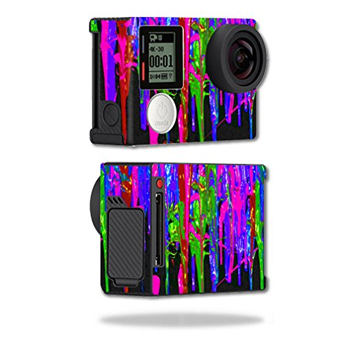 Mightyskins Protective Vinyl Skin Decal Cover for GoPro Hero4 Black Edition Camera Digital Camcorder wrap sticker skins Drips