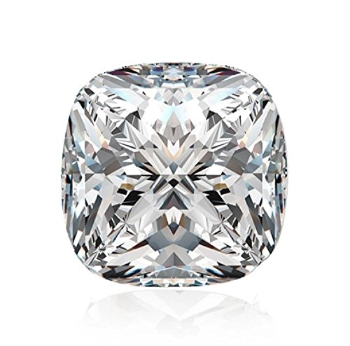 Diamonbella Realistic 101 facets 2 Carat Princess Cushion Cut NSCD Simulated Diamond Loose Stone
