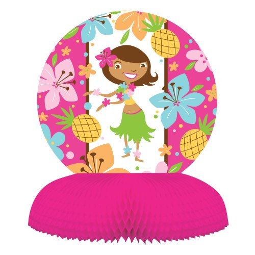 Creative Converting Pink Luau Fun Honeycomb Centerpiece Party Decoration for $<!--$2.00-->