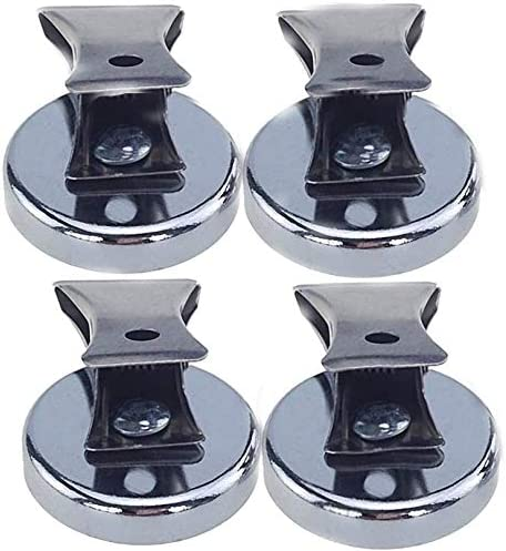 Pair of  Heavy Duty Magnetic Clips with Aqua Trailer