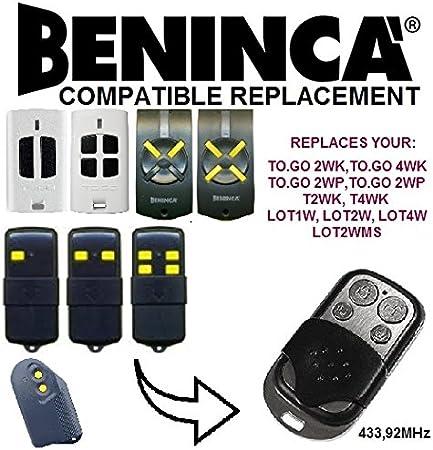 Beninca To.go 2WP To.go 4WP Fernbedienung Duplikator 4-Channel 433.92MHz