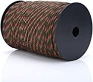 Paracord 550 Rope Parachute Lanyard 9 Strand Cord Spool Traction Rope Tent Rope for Outdoor Hiking Wristband B