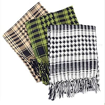 Custcolor 3Pack Men Military Scarf Cotton Shemagh Keffiyeh Tactical Desert Scarf Wrap: Toys & Games