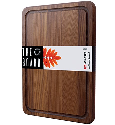 Cutting Board 14 Wood Cutting Board Red Ash Wood Chess Plate More Reliable than Bamboo Cutting Board and More Organic than Plastic Cutting Board Small Cutting Board Serving Tray