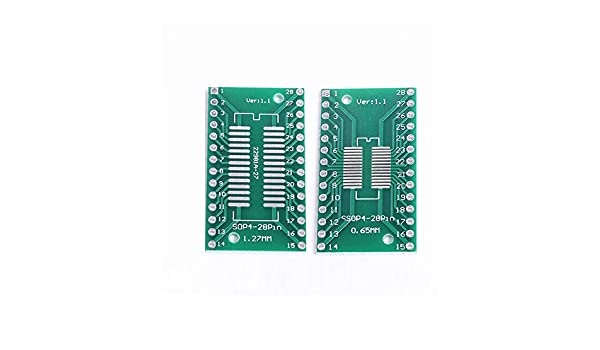 1.27 mm 20 Piezas tssop28 Ssop28 a Dip28 pinboard Smd A Dip Adaptador 0,65