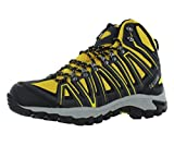 Pacific Mountain Crest Men's Waterproof Hiking Backpacking Mid-Cut Black/Grey/Yellow Boots Size 10