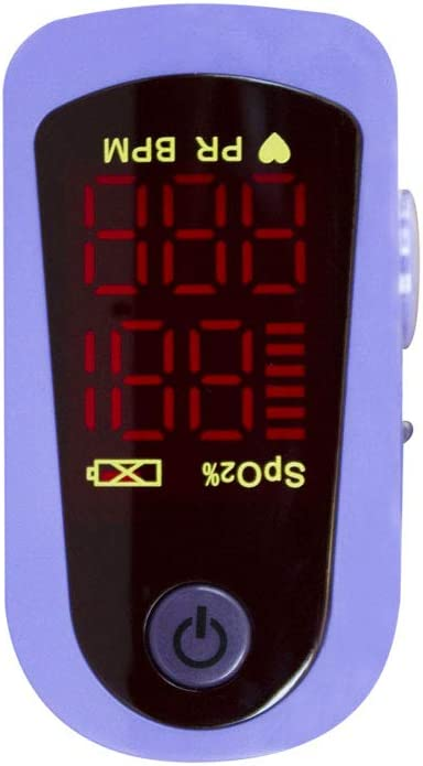 Mobiclinic, MD300C13, Pulsioxímetro de dedo, Oxímetro de pulso, Oxímetro dedo digital, Pulsómetro con pantalla LED, Frecuencia cardíaca, Medición SpO2, Medición saturación de oxígeno en sangre