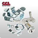 Universal Interior Multi-Cam Mailbox Lock – Bright Nickel...