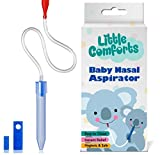 Nasal Aspirator - Baby Nose Cleaner – For Congestion Relief – Safe and Hygienic Booger Sucker to Clear Infant Nostrils and Remove Mucus by Little Comforts