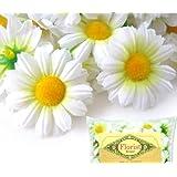 "(100) Silk White Gerbera Daisy Flower Heads , Gerber Daisies - 1.75"" - Artificial Flowers Heads Fabric Floral Supplies Wholesale Lot for Wedding Flowers Accessories Make Bridal Hair Clips Headbands Dress"