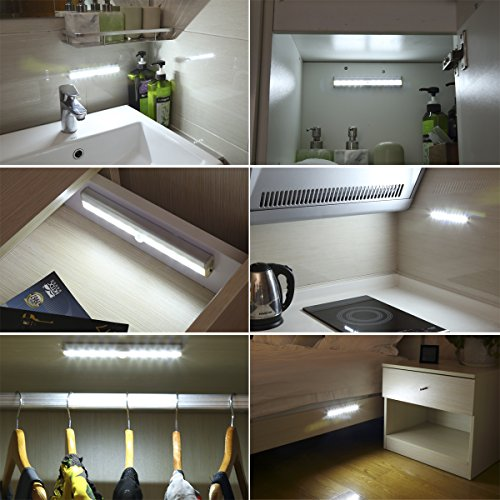 Amir 10 Led Motion Sensing Closet Lights 3 Pack Diy Stick