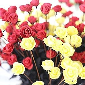 SHJNHAN Artificial Flowers, 1x Artificial PE Fake Flowers Rose Floral Wedding Bouquet Bridal Hydrangea Decor 2