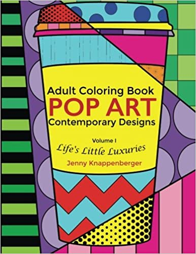 Amazoncom Adult Coloring Book Pop Art Contemporary Designs
