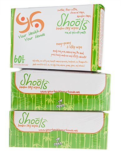 - YHYH - REFILL - ALL NEW, THICKER! All Natural! Multi-Purpose Dry Bamboo Wipes, 180 count, 6
