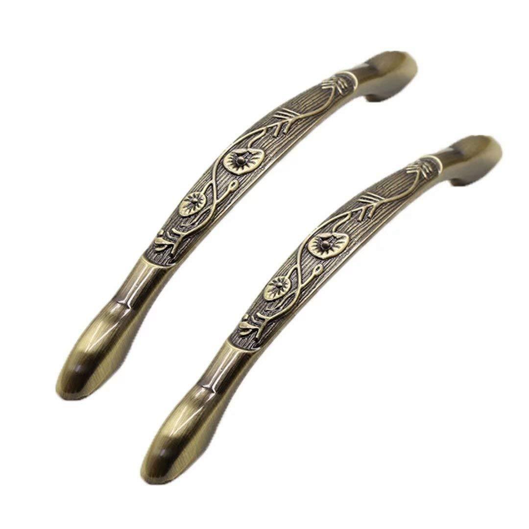 decoraci/ón Creatwls 2 tiradores de puerta estilo retro de aleaci/ón de cinc para tocador