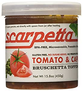 Scarpetta Tomato and Capers Bruschetta Topping, 15.8-Ounce Jar (Pack of 4)