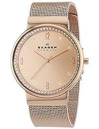 Skagen SKW2130 Women's Ancher Denmark Rose Gold Dial Rose Gold Plated Steel Mesh Bracelet Watch