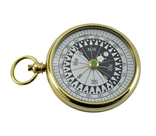 Brass Nautical Magnetic Pocket Compass (Sundial Charm)