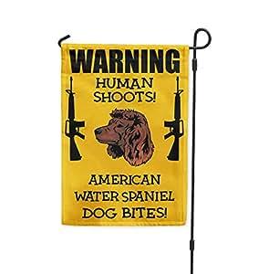 Humanos brotes American agua Spaniel Dog Bites Patio Patio Casa Jardín bandera