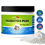 In-It Pets All Natural Probiotics for Dogs and Cats by Top Quality Dog Probiotics to Relieve Allergies, Constipation, Bad Breath, Gas, and Diarrhea, 2 Billion CFU per Scoop, 5 oz Container