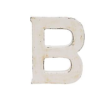 """SHABBY-CHIC /""""B/"""" 15 CM BUCHSTABE AUS HOLZ CA"""